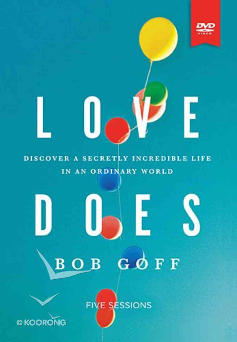 Love Does (Study Guide With Dvd) Pack