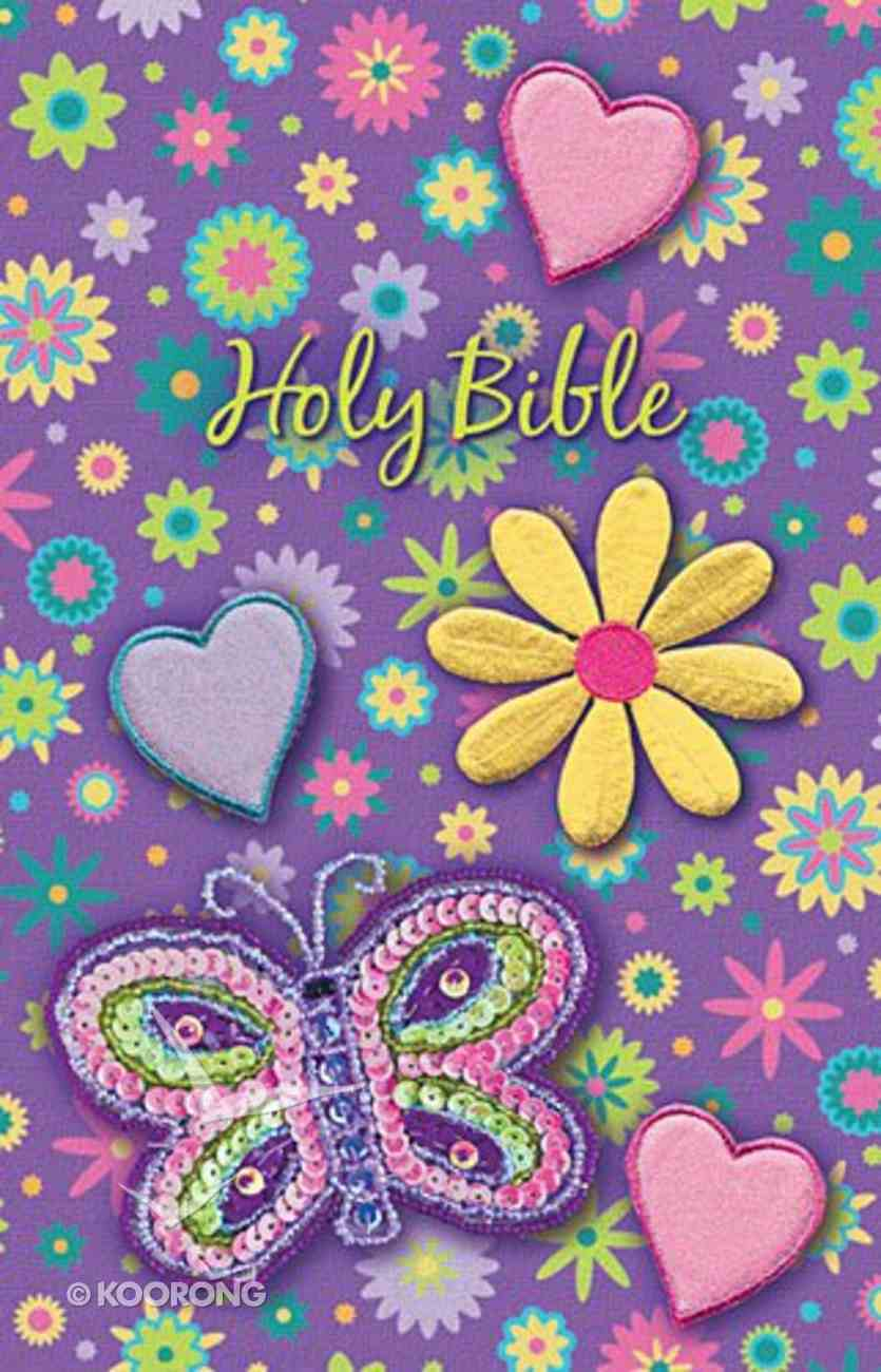 NKJV Shiny Sequin Bible Purple (Red Letter Edition) Fabric