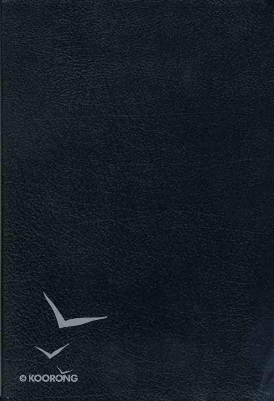NKJV Study Bible Large Print Black Indexed (Black Letter Edition) Bonded Leather