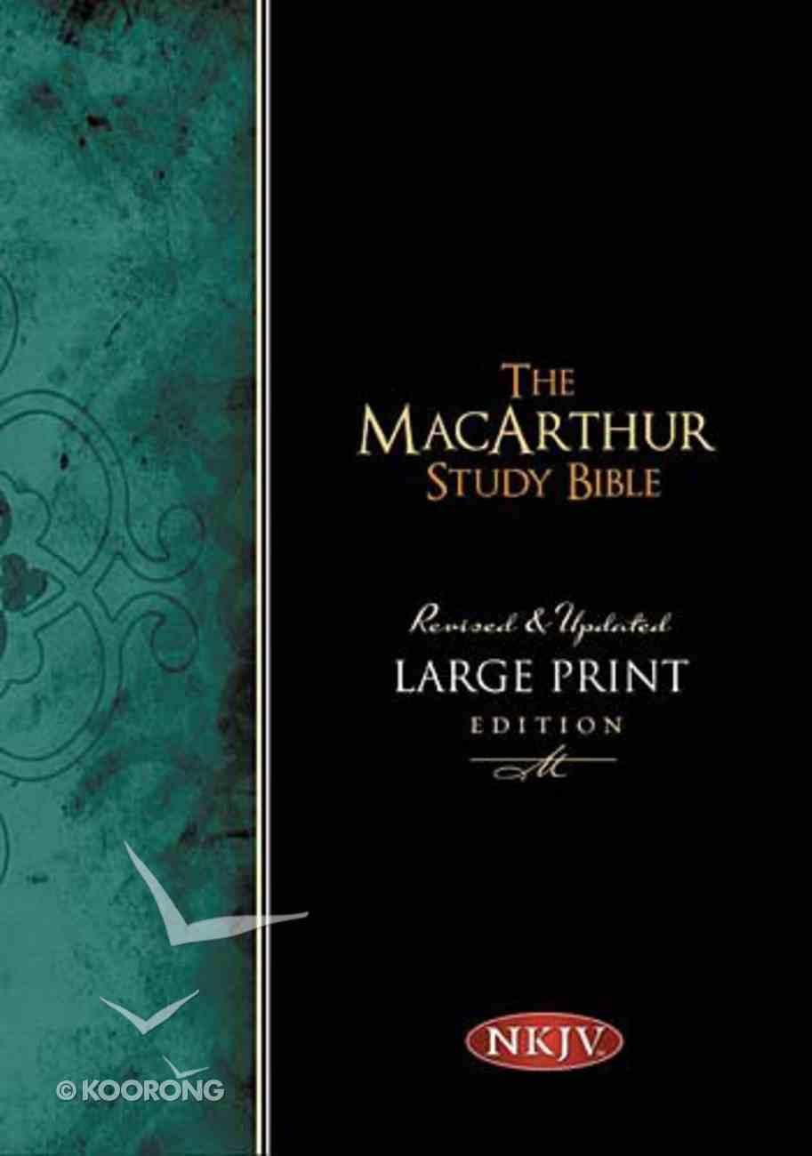 NKJV Macarthur Study Indexed Large Print (Black Letter Edition) Hardback