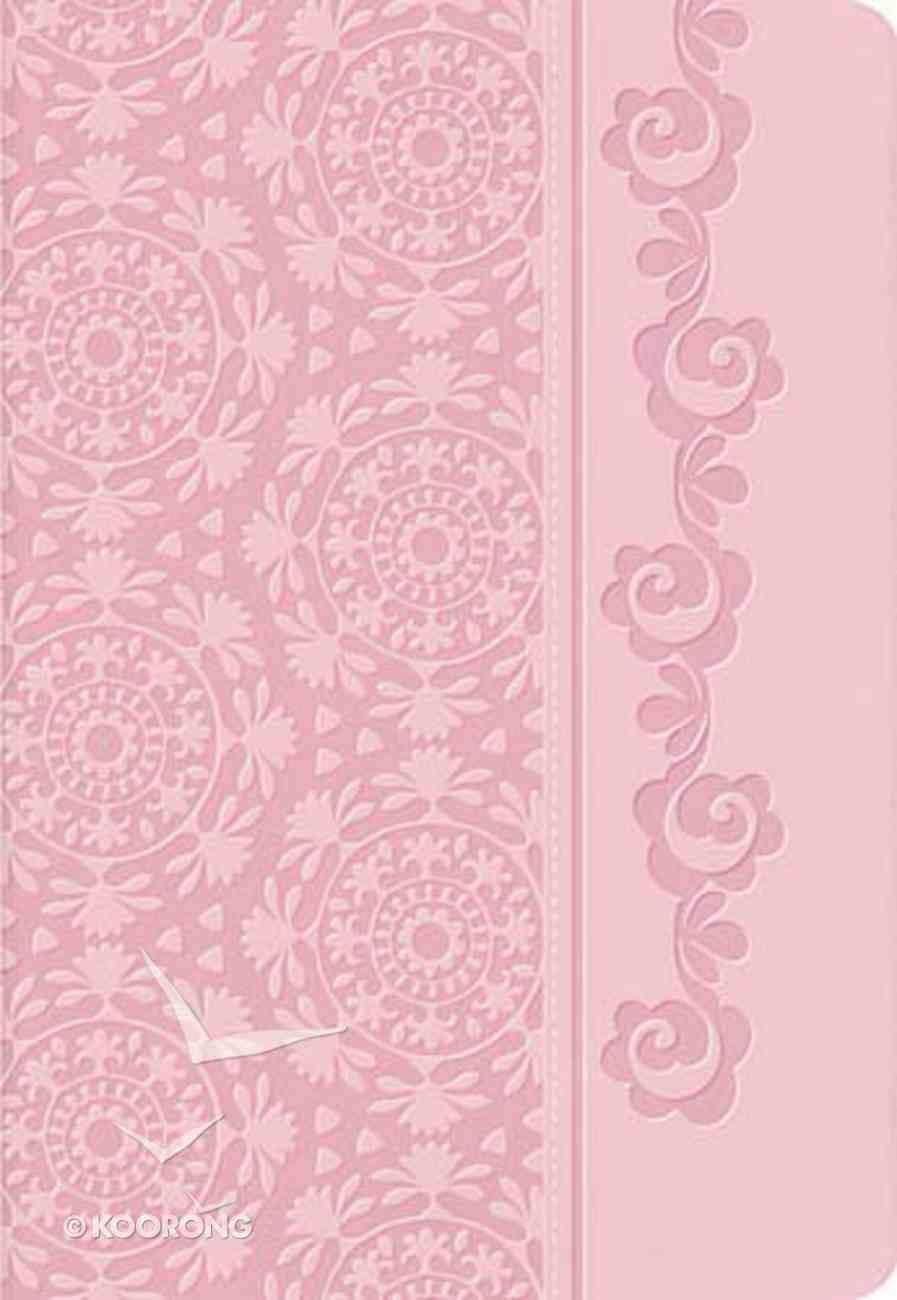 NKJV Women's Devotional Bible Pink (Black Letter Edition) Premium Imitation Leather