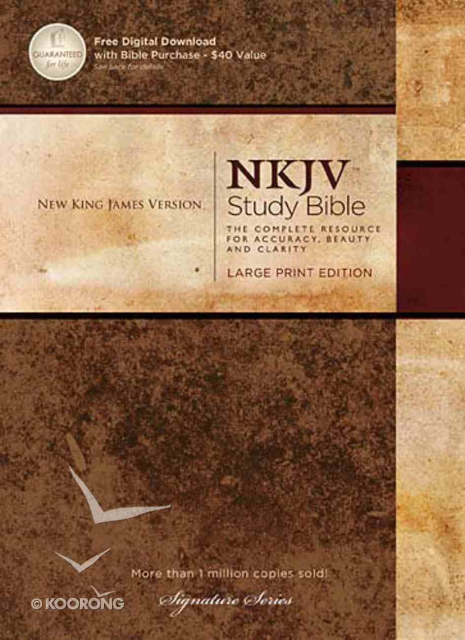 NKJV Study Bible Large Print (Black Letter Edition) Hardback