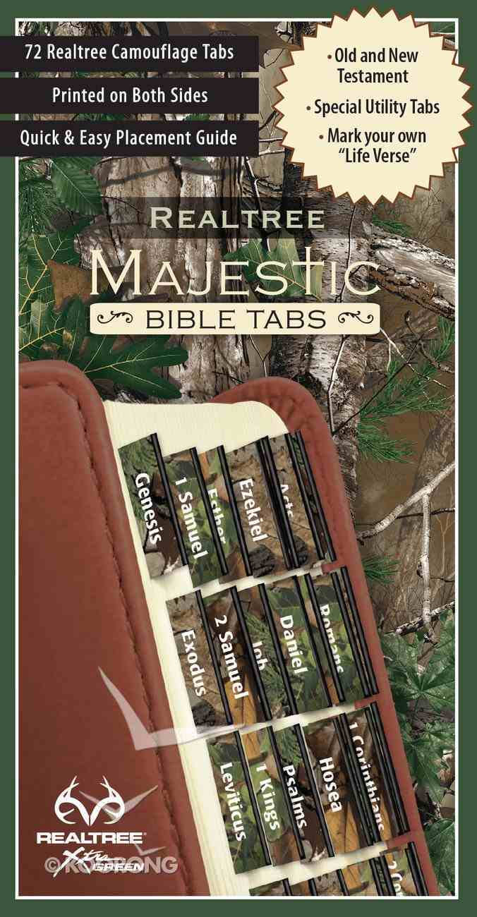 Majestic Bible Tabs: Camouflage Stationery