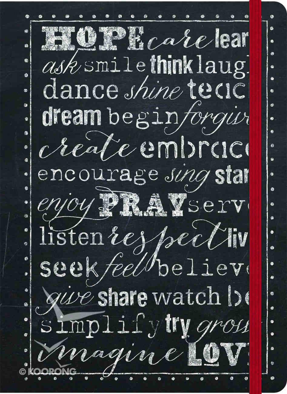 Impulse Journal: Hope, Pray, Love (Black/white) Hardback