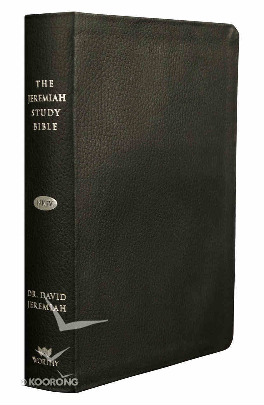 NKJV Jeremiah Study Bible Black Thumb-Indexed Genuine Leather