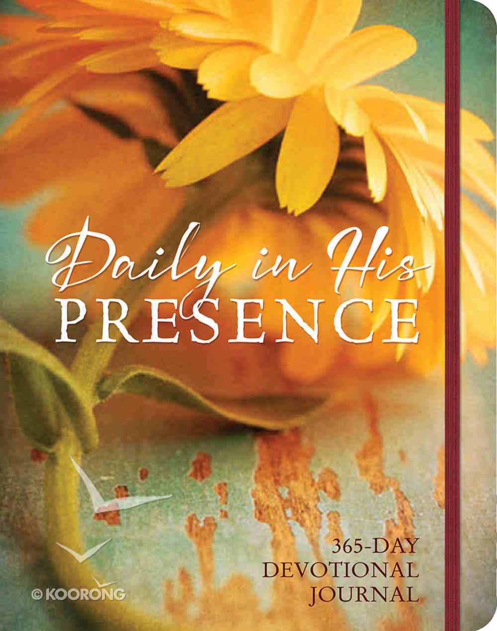 Daily in His Presence Devotional Journal Hardback