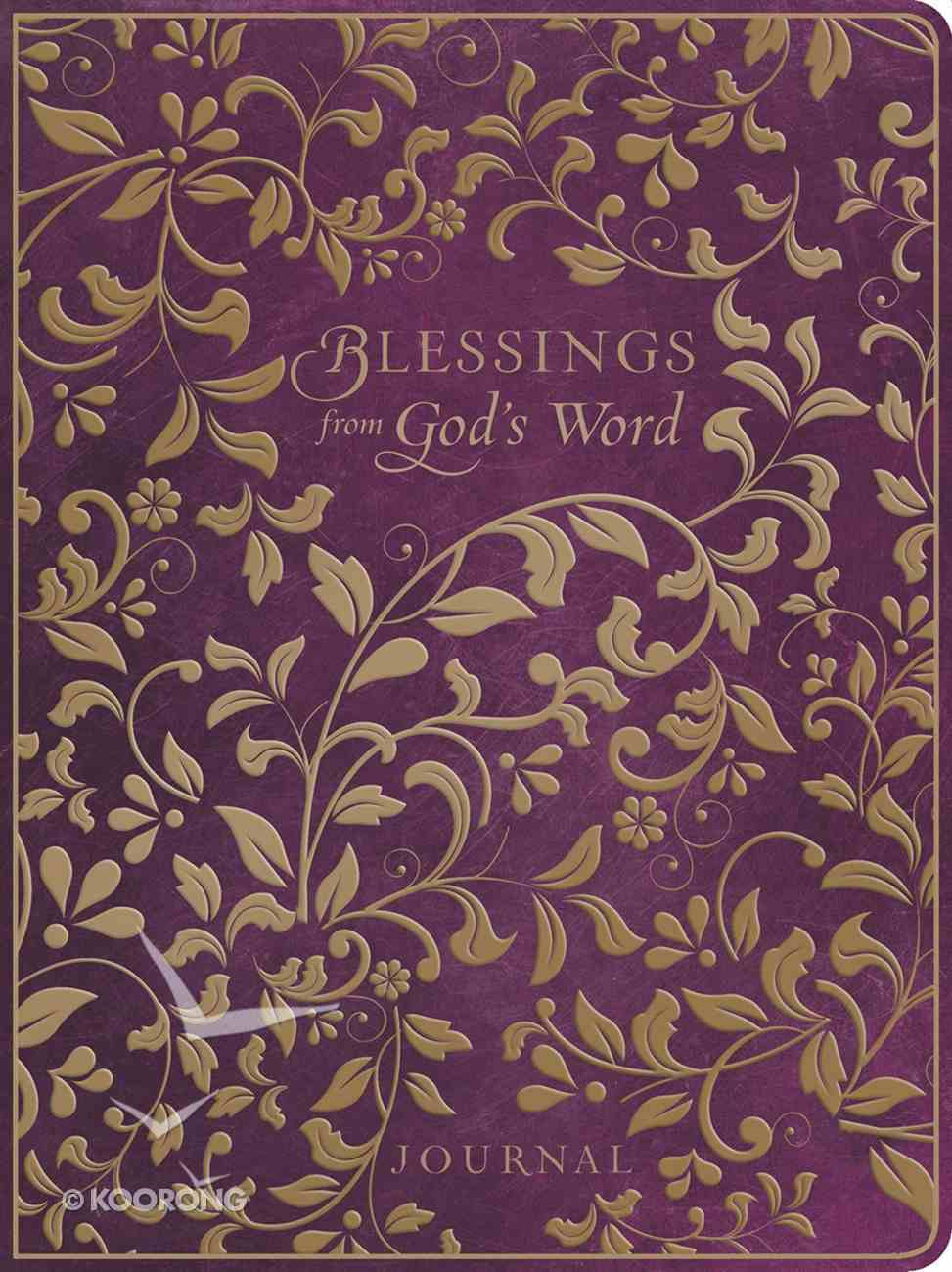 Premium Journal: Blessings From God's Word Purple Leatherluxe Imitation Leather