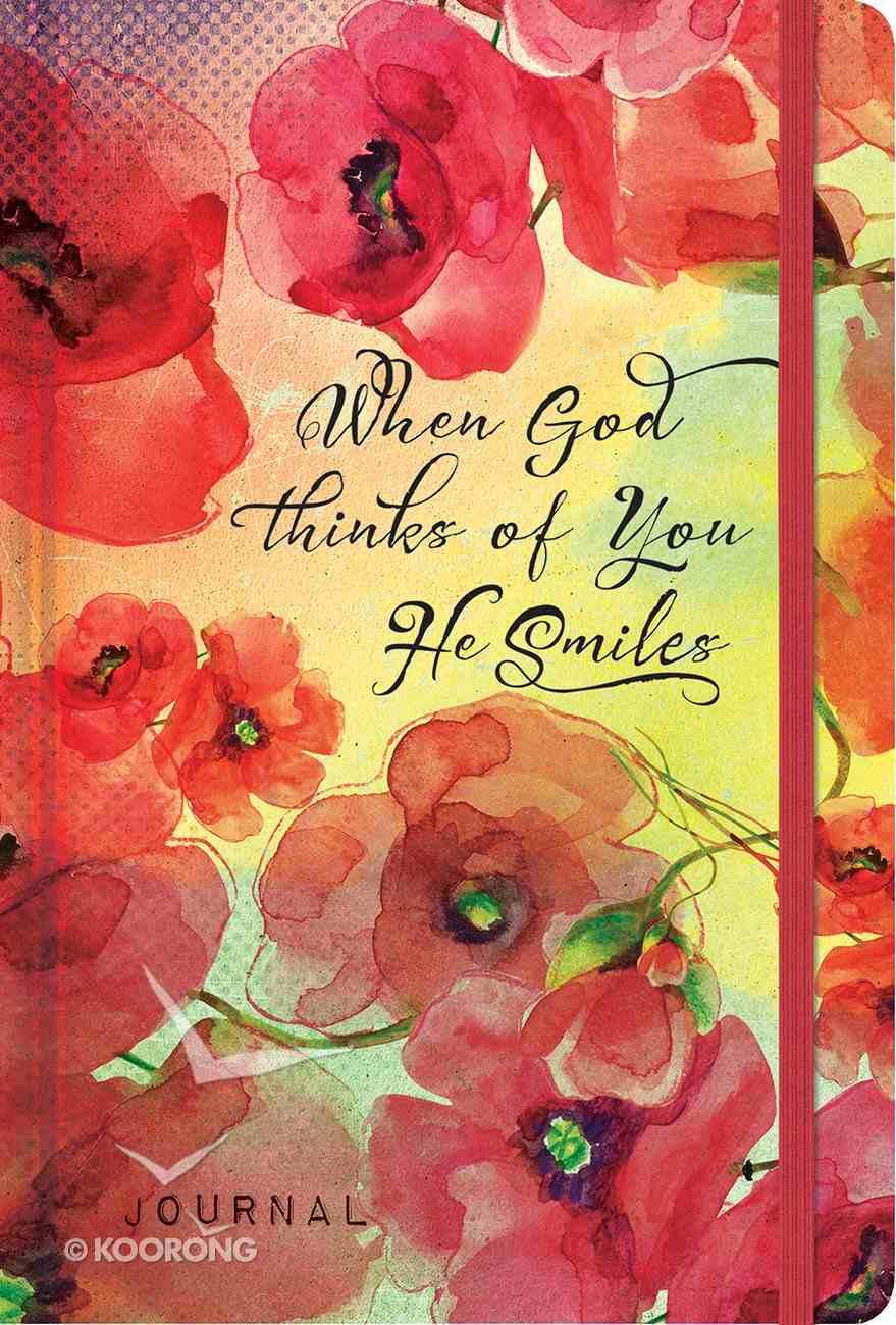 Inspiration Journal: When God Thinks of You He Smiles Hardback
