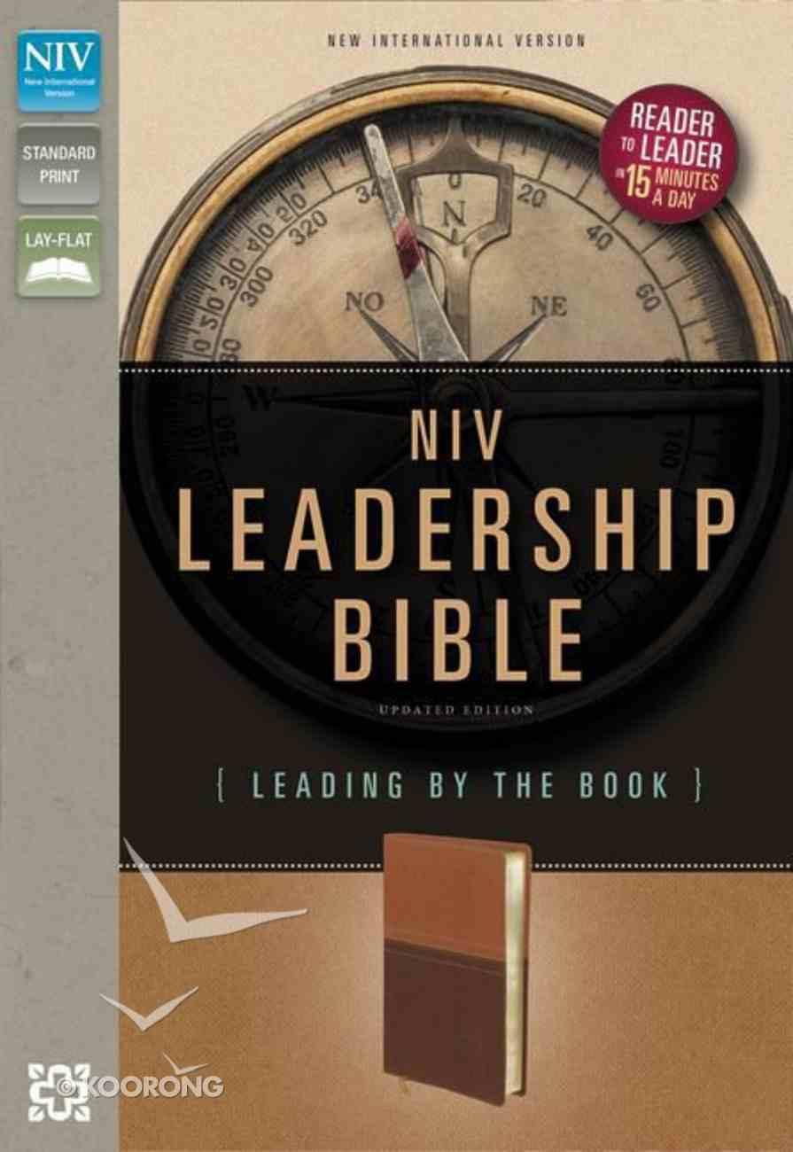 NIV Leadership Italian Duo-Tone Bible Dark Caramel/Caramel Imitation Leather