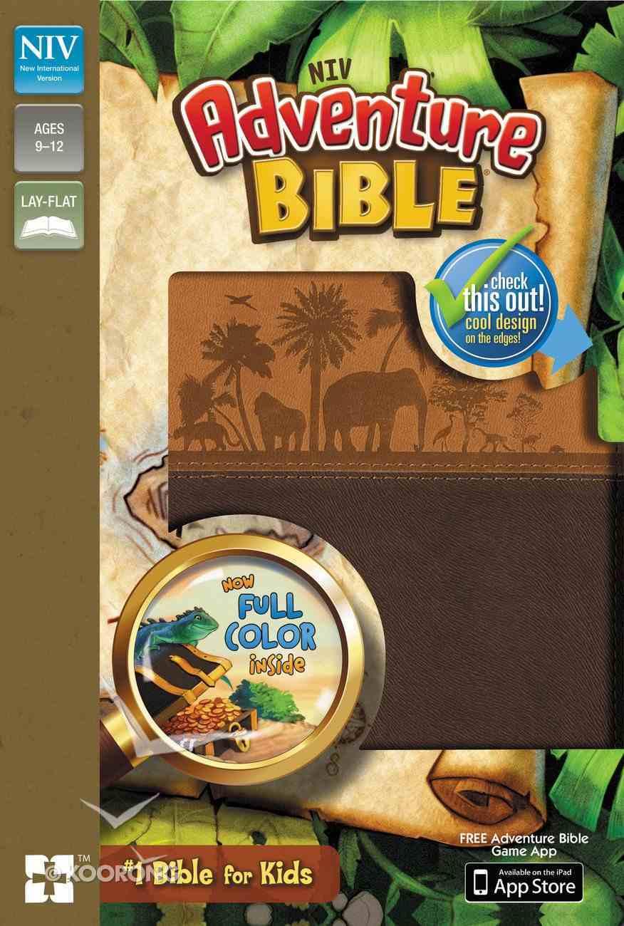 NIV Adventure Bible Chocolate/Toffee (Black Letter Edition) Premium Imitation Leather