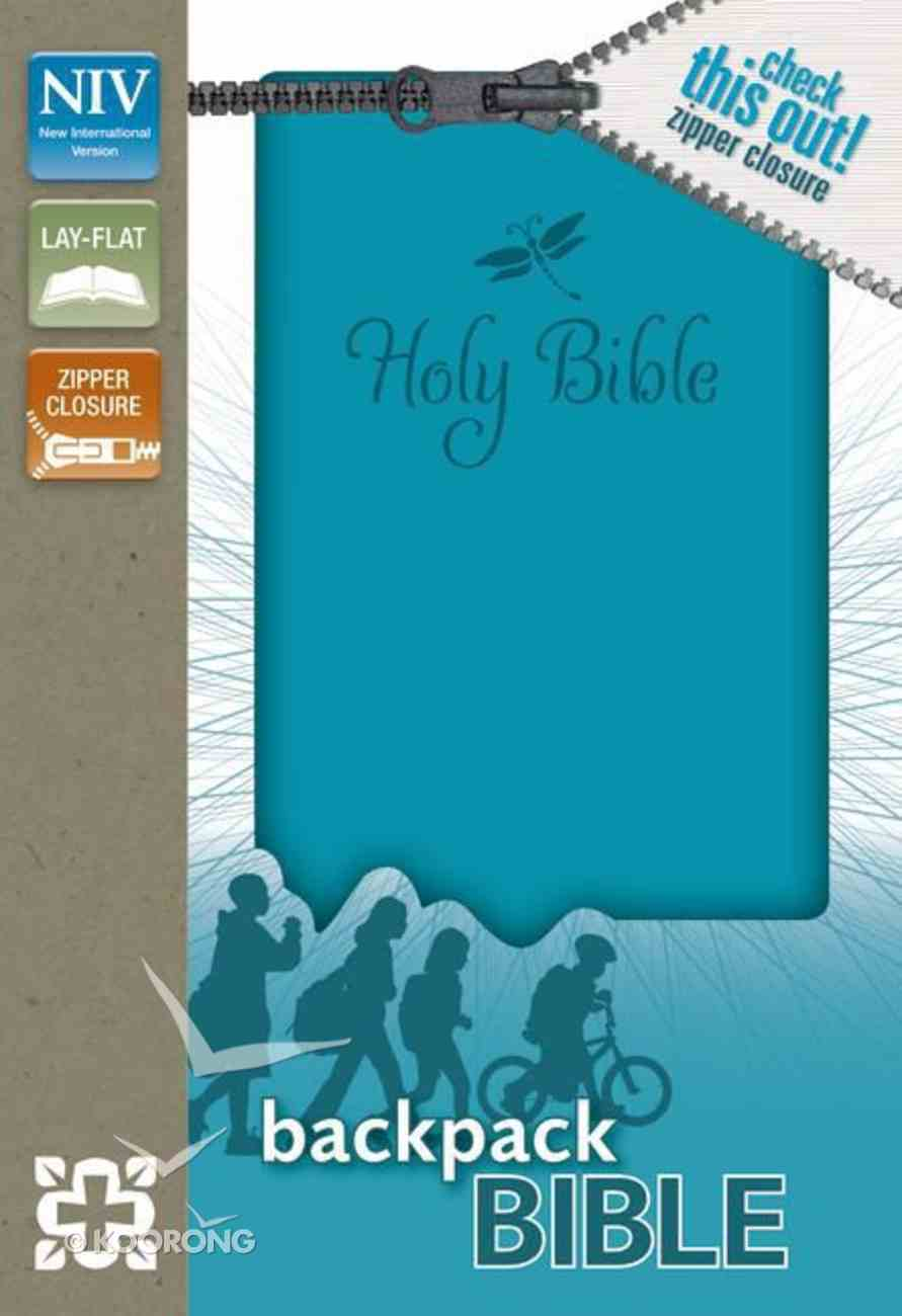 NIV Backpack Zipper Bible Teal (Red Letter Edition) Imitation Leather