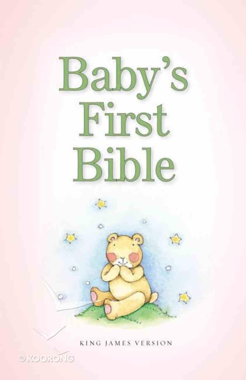 KJV Baby's First Bible Pale Pink (Red Letter Edition) Hardback