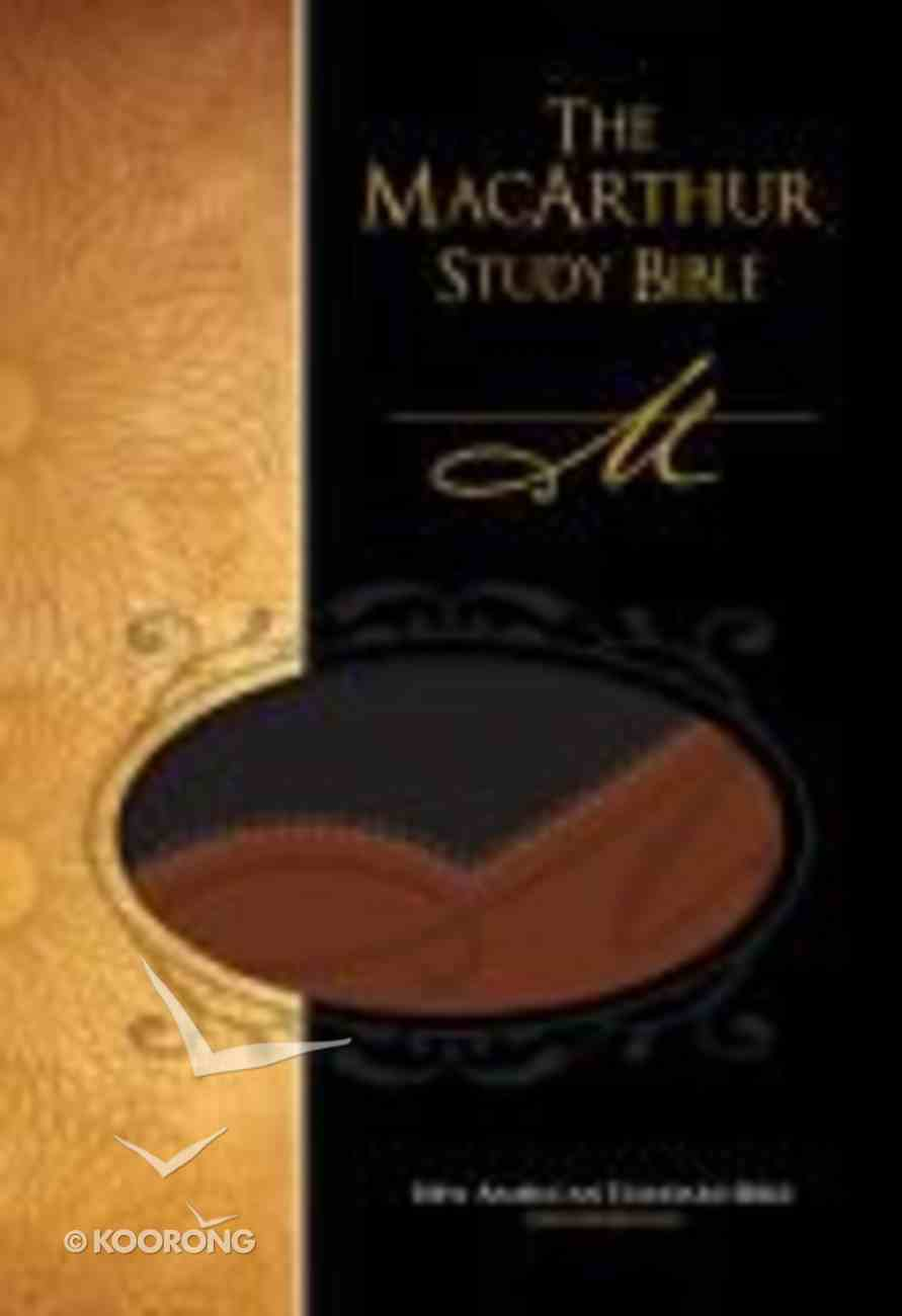 NASB Macarthur Study Black/Terracotta Premium Imitation Leather