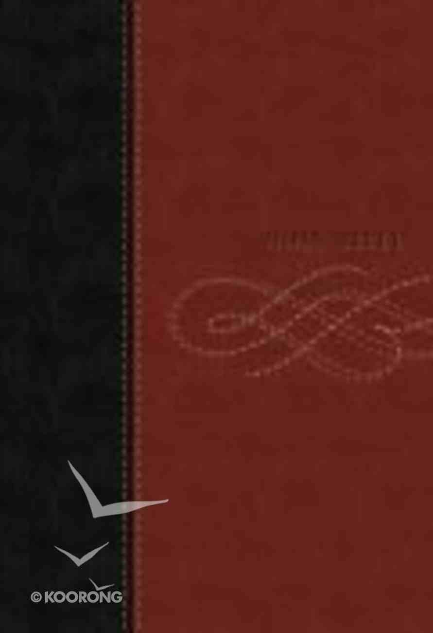 NKJV Personal Size Giant Print Bible Thumb Indexed Black/Burgundy Premium Imitation Leather