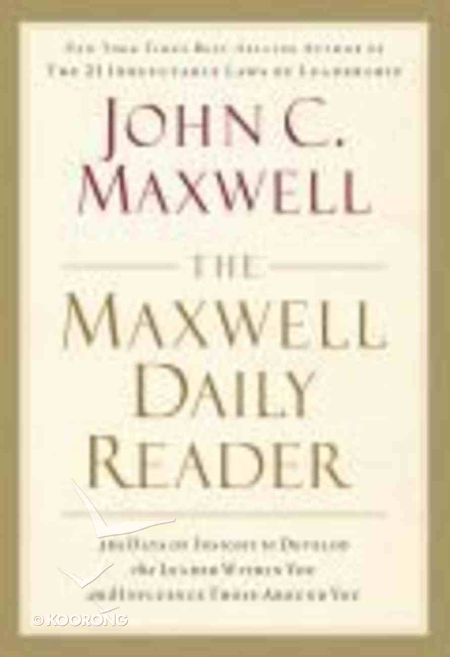 The Maxwell Daily Reader Paperback