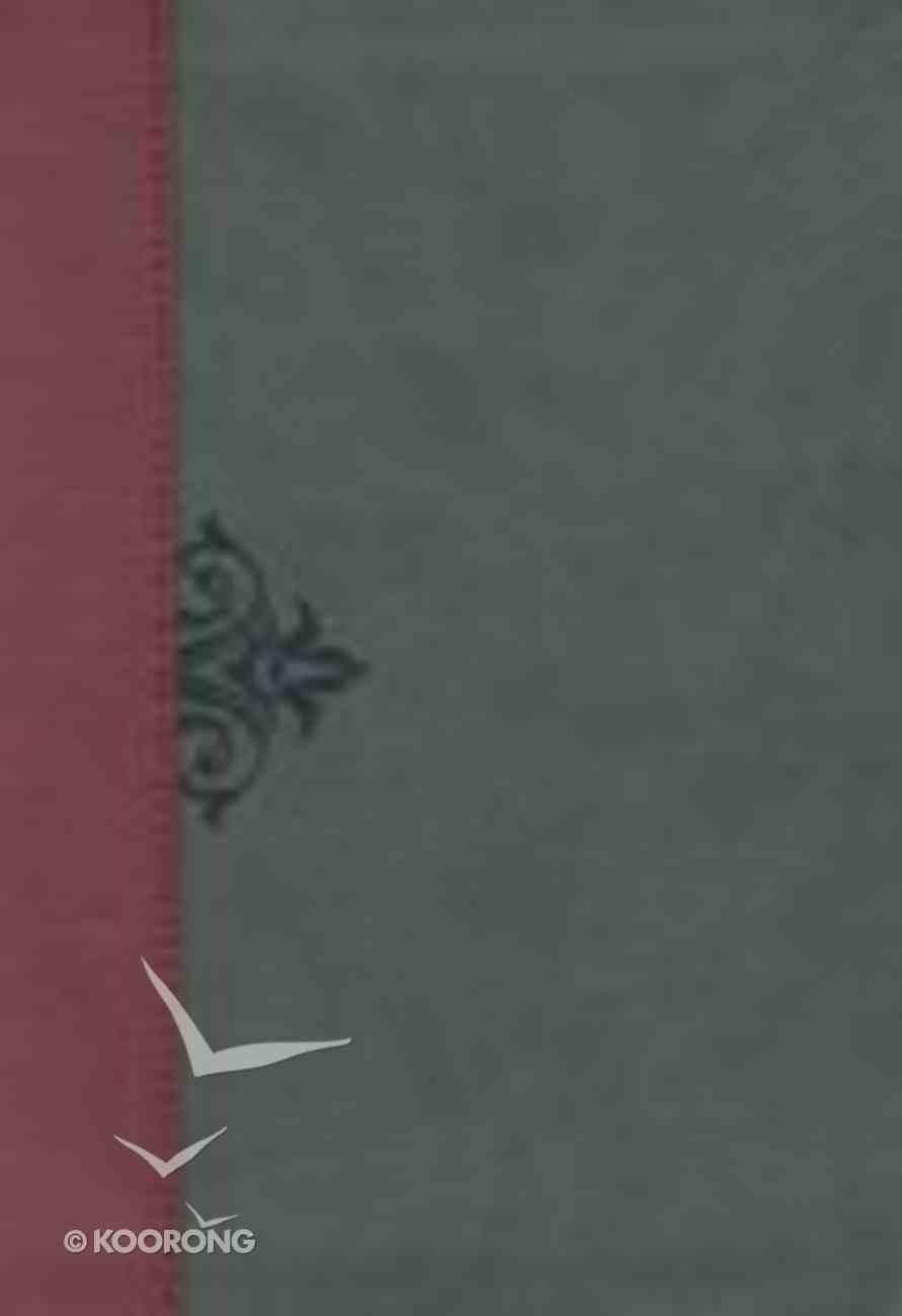 NKJV Inspirational Study Bible Indexed Burgundy/Grey Premium Imitation Leather