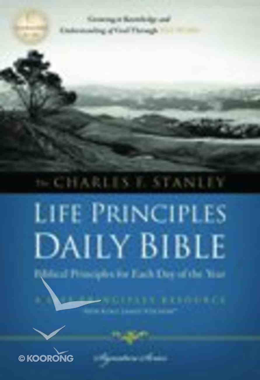 NKJV Charles F Stanley Life Principles Daily Bible (Black Letter Edition) Paperback