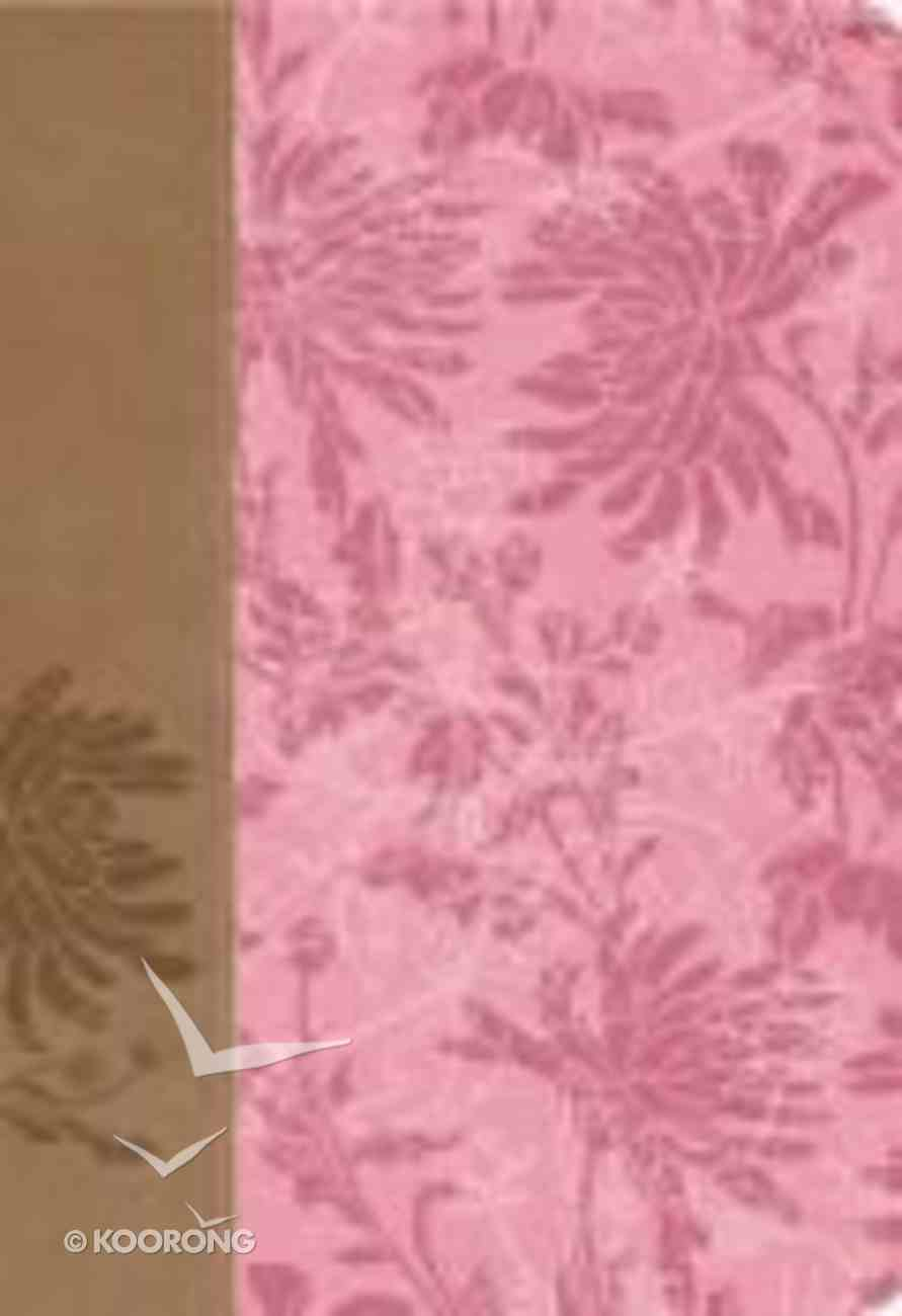 KJV Woman's Study Bible Pink/Cafe Au Lait Fabric Indexed Imitation Leather