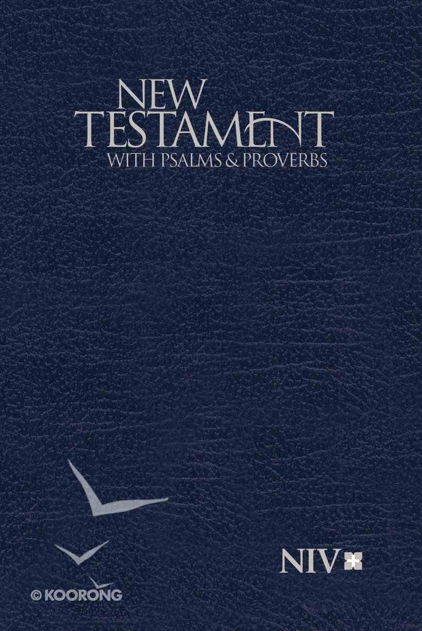 NIV Pocket New Testament With Psalms and Proverbs Blue (Black Letter Edition) Paperback