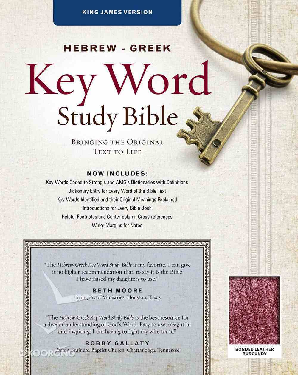 KJV Hebrew-Greek Key Word Study Bible Burgundy Bonded Leather