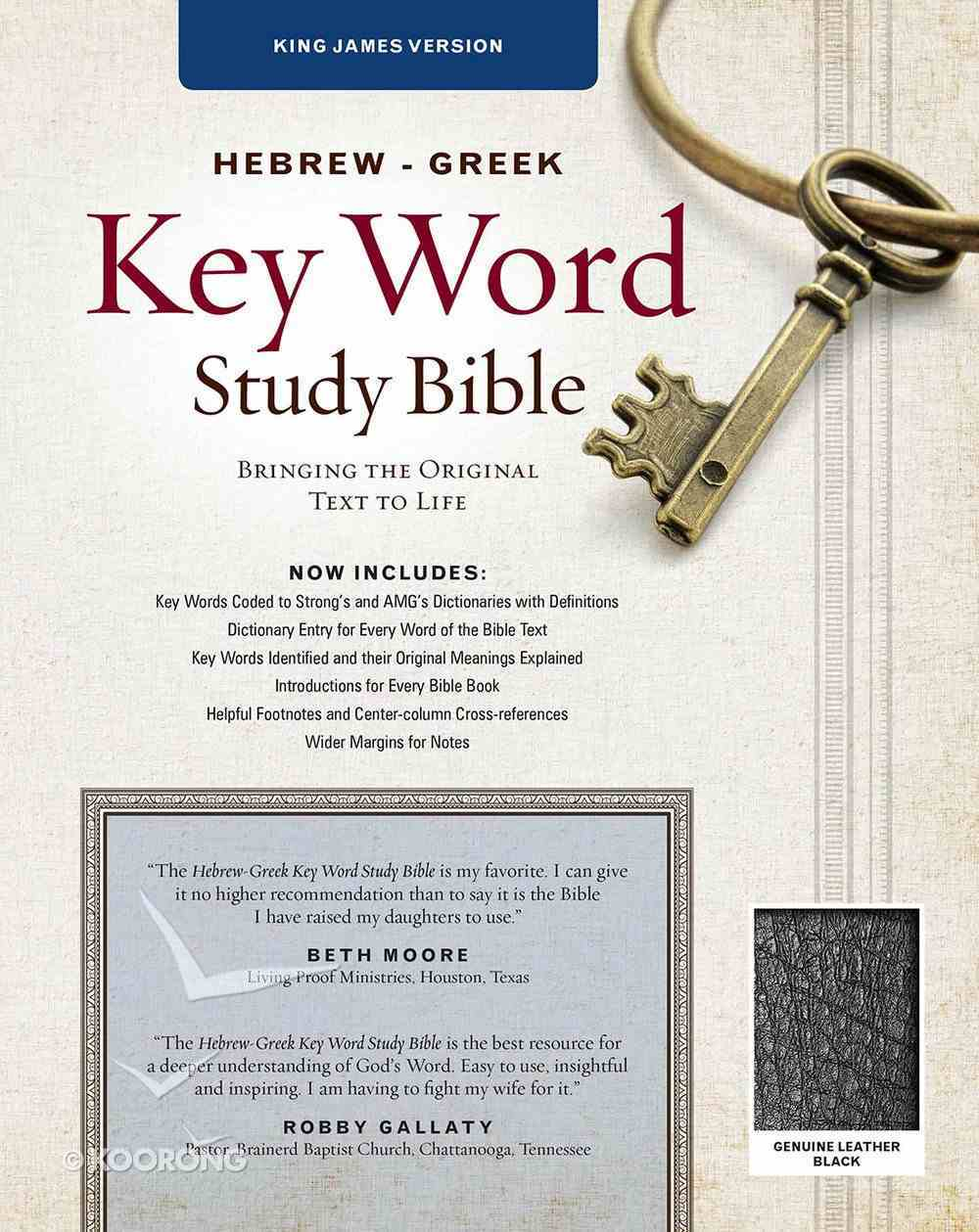 KJV Hebrew-Greek Key Word Study Bible Black (New Edition) Genuine Leather