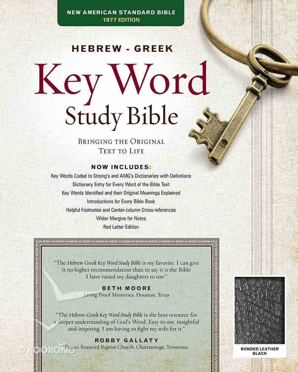 NASB Hebrew-Greek Key Word Study Bible Black (New Edition) Bonded Leather