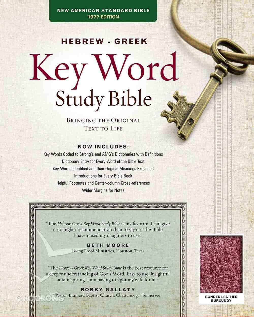 NASB Hebrew-Greek Key Word Study Bible Burgundy (New Edition) Bonded Leather