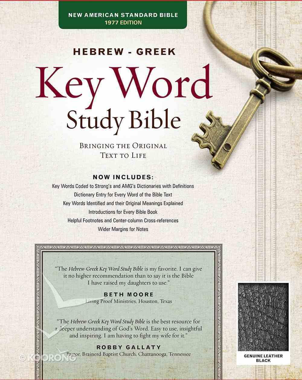 NASB Hebrew-Greek Key Word Study Bible Black (New Edition) Genuine Leather