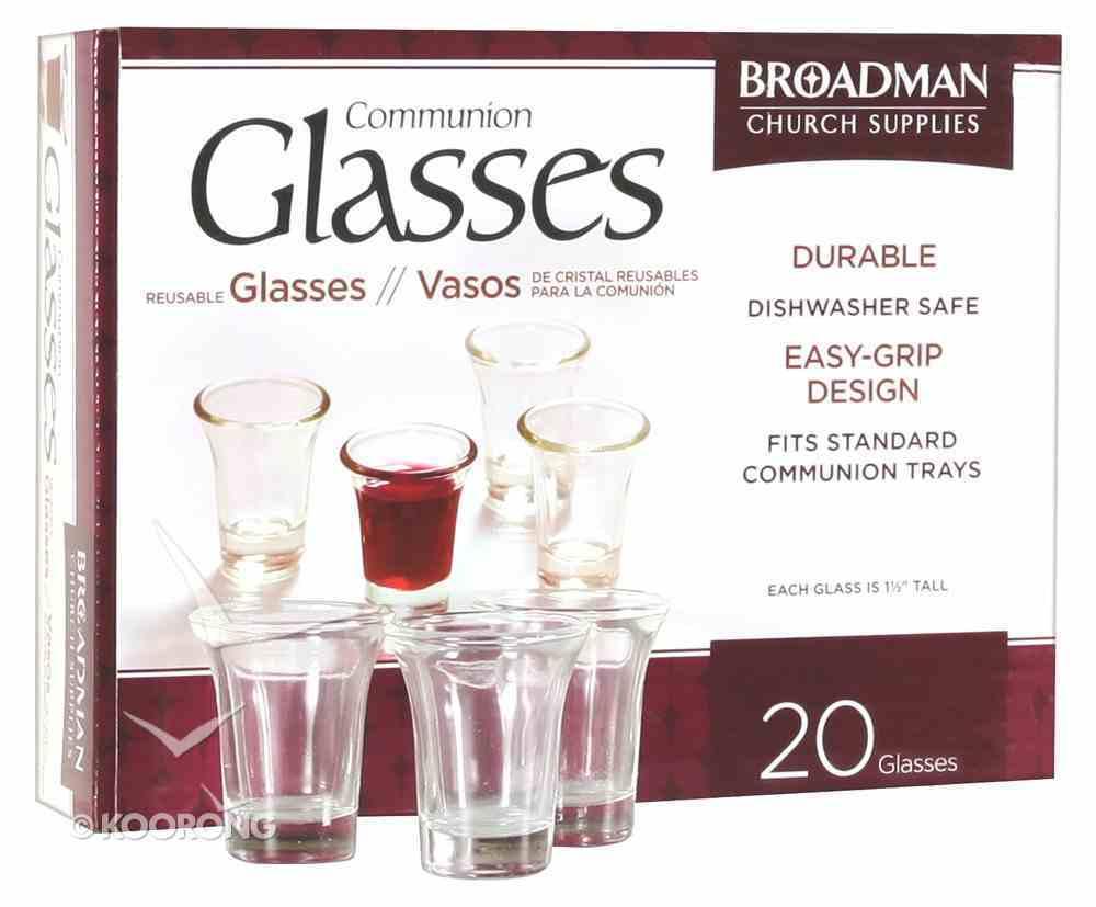 Glass Communion Cups (Box Of 20) Church Supplies