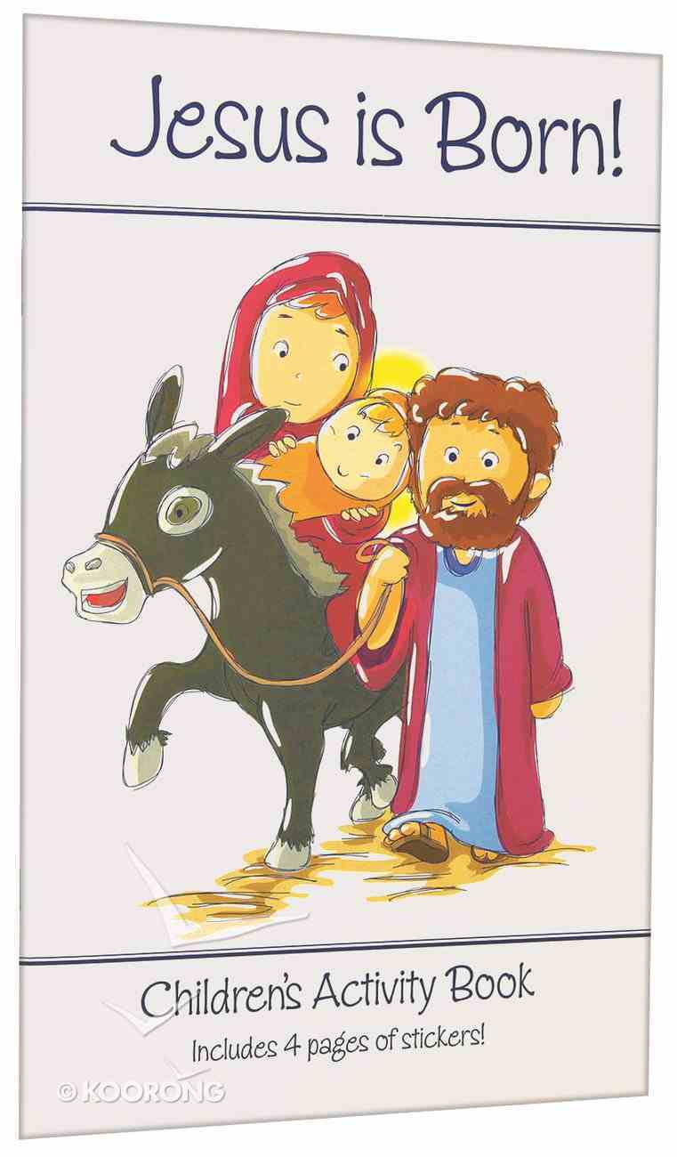 Activity Book & Stickers: Jesus is Born! Paperback