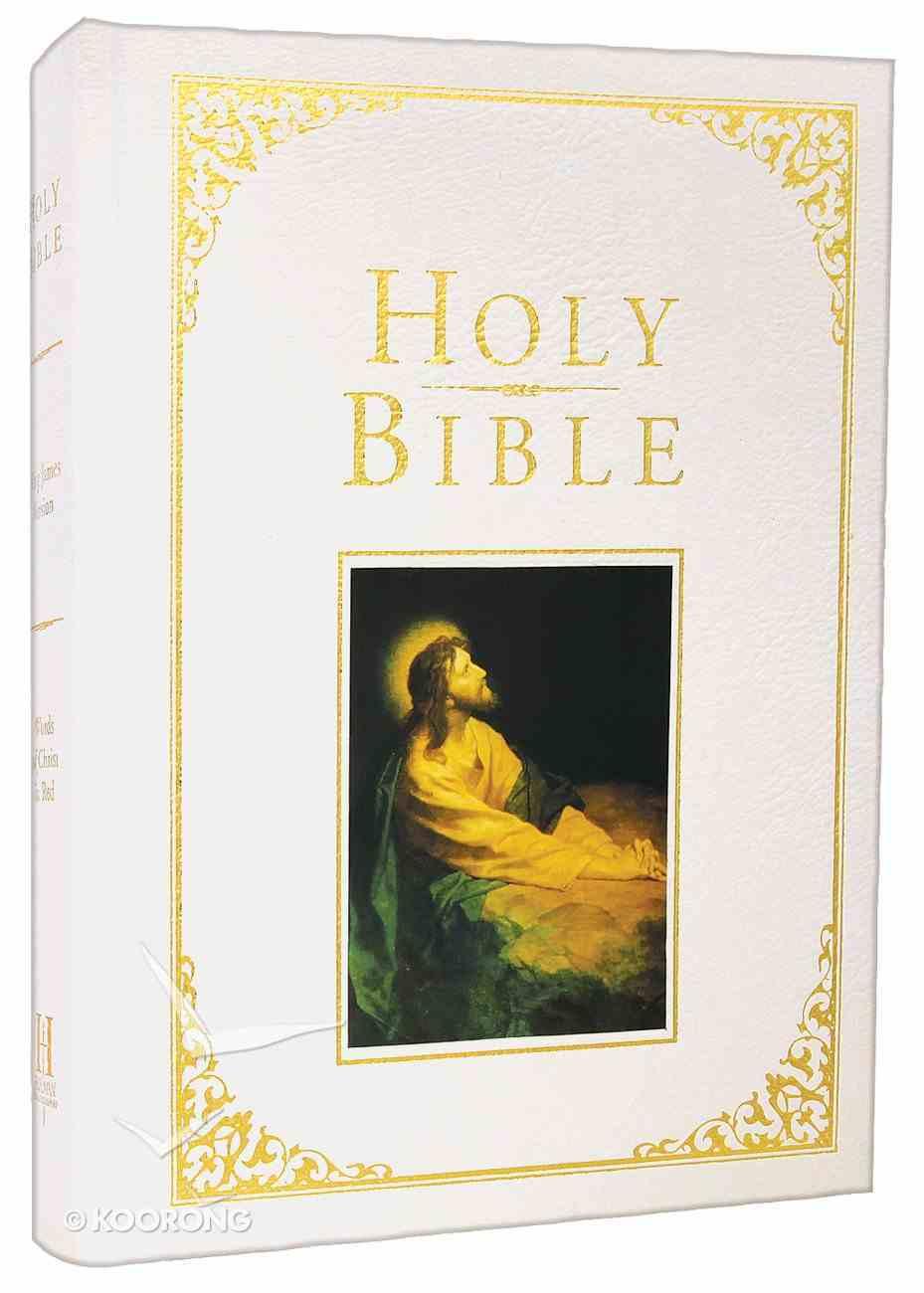 KJV Holman Family Bible White (Red Letter Edition) Bonded Leather