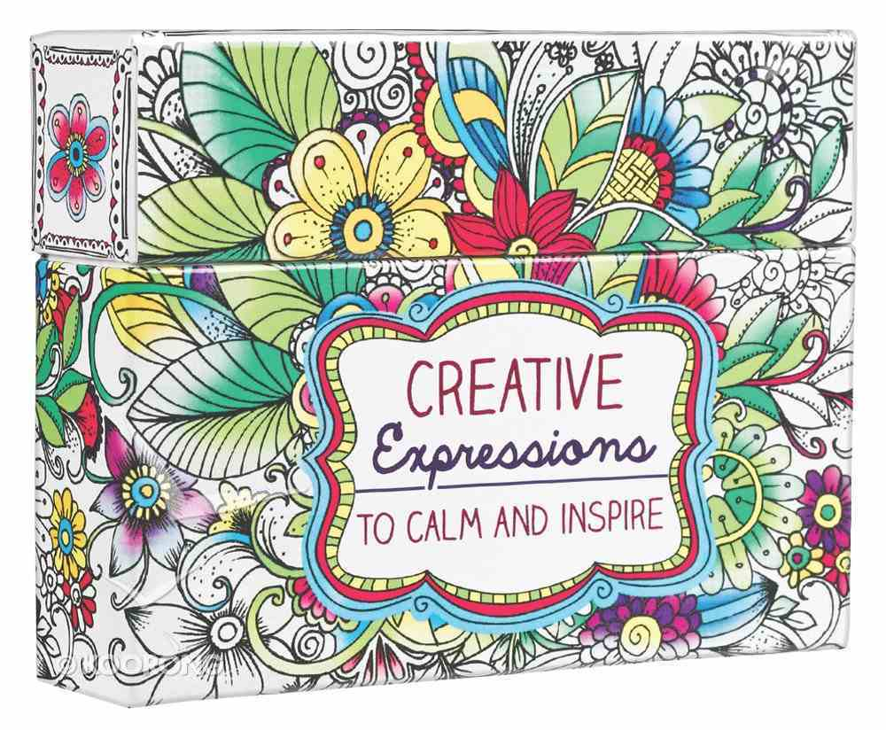 Adult Boxed Coloring Cards: Creative Expressions to Calm and Inspire Box