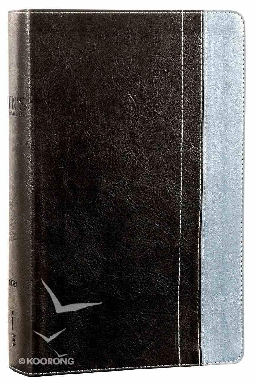 NIV Men's Devotional Bible Grey/Steel Blue (Black Letter Edition) Premium Imitation Leather