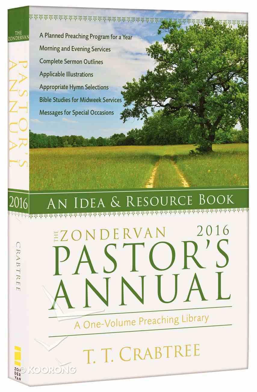 The Zondervan 2016 Pastor's Annual Paperback