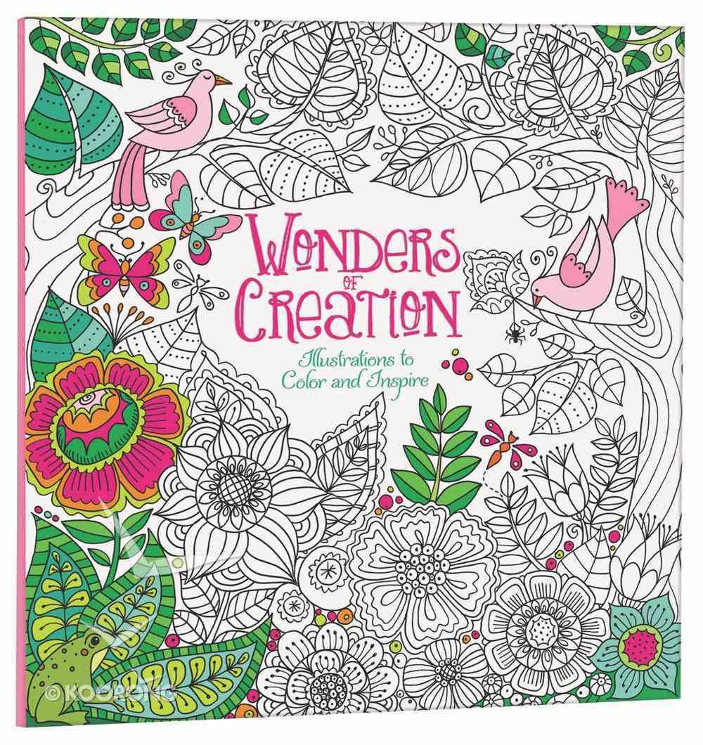 Wonders of Creation (Adult Coloring Books Series) Paperback