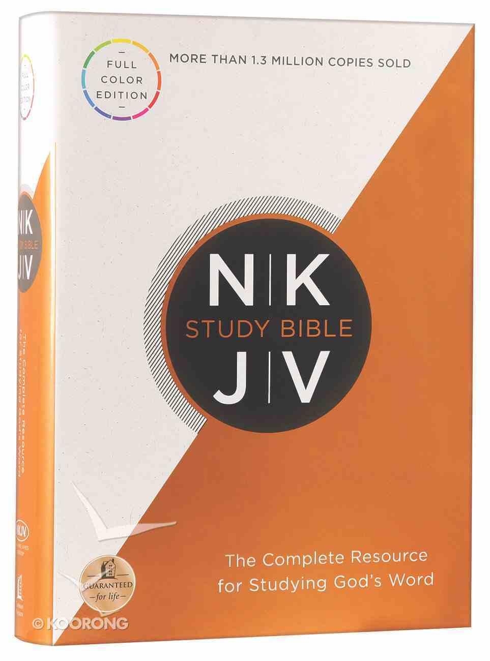 NKJV Study Bible (Red Letter Edition) (Full-color Edition) Hardback