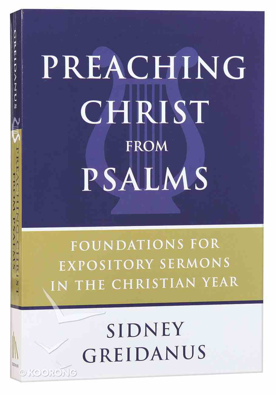 Preaching Christ From Psalms Paperback