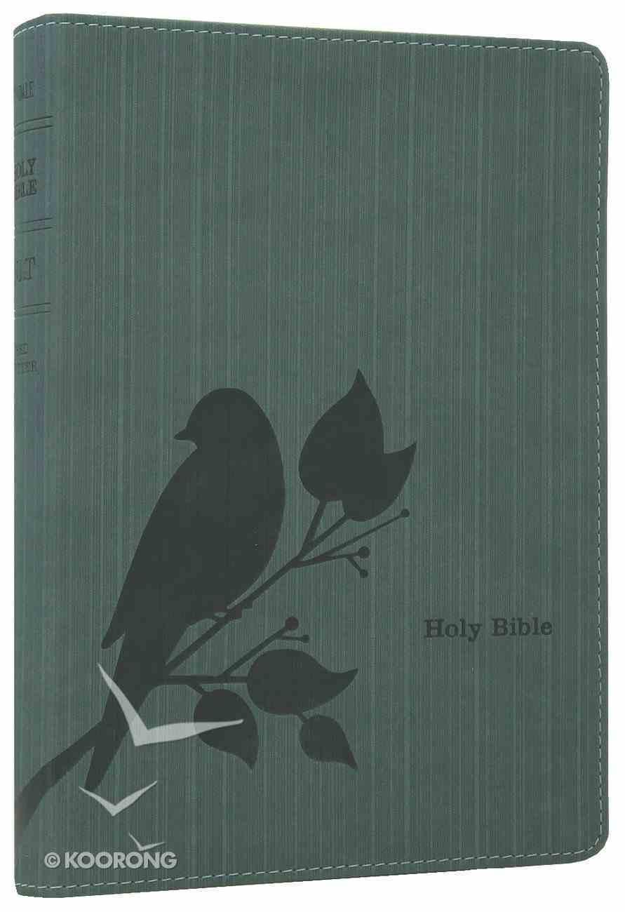 NLT Slimline Reference Bible Birdsong Teal (Red Letter Edition) Imitation Leather