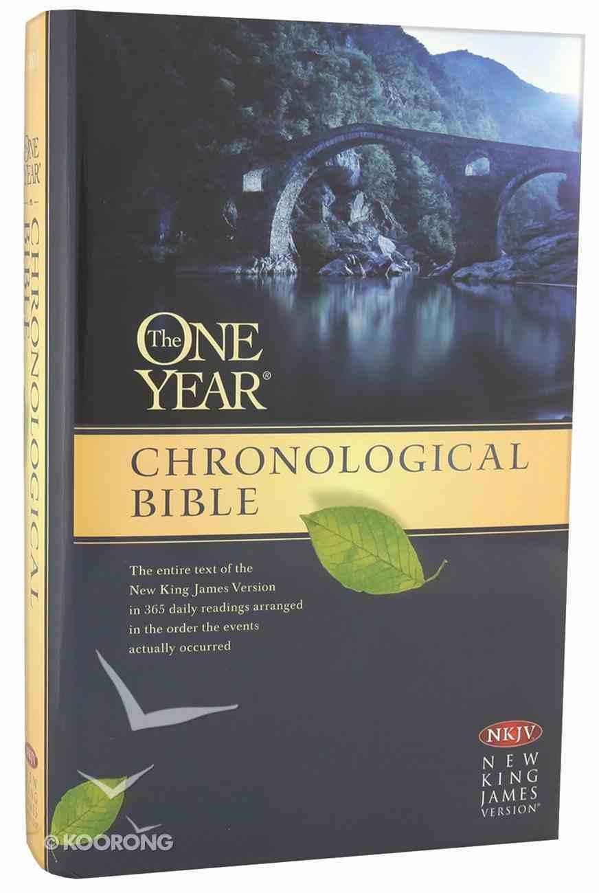 NKJV One Year Chronological Bible (Black Letter Edition) Hardback