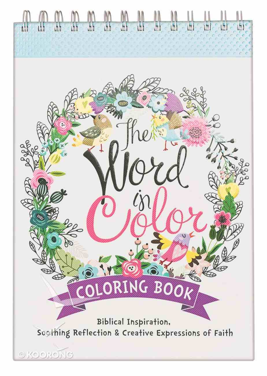 The Word in Color (Adult Coloring Books Series) Spiral