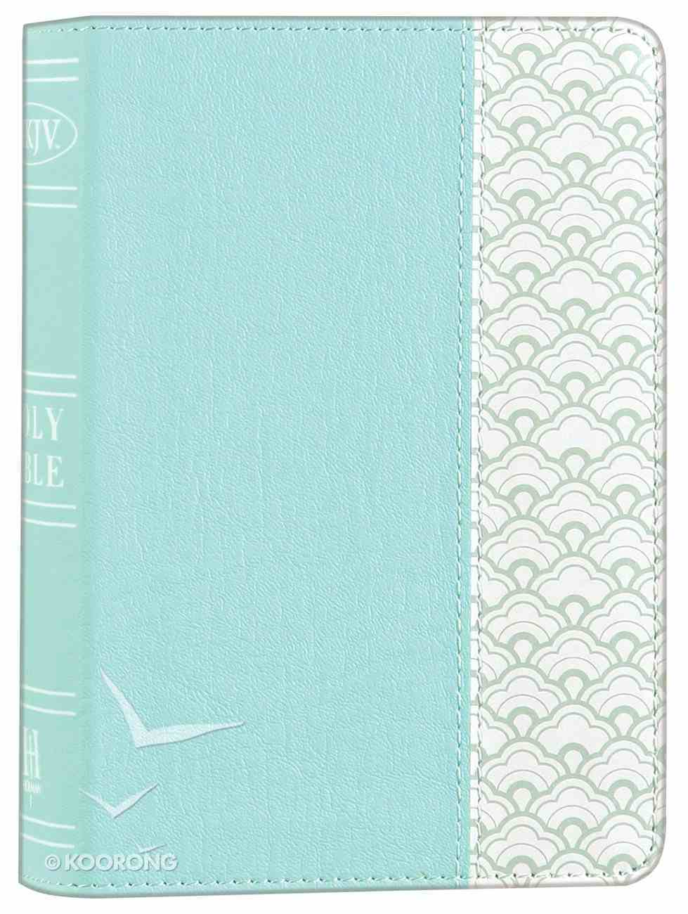 NKJV Large Print Compact Reference Bible Mint Green Premium Imitation Leather