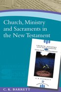 Church, Ministry And Sacraments In The New Testament image