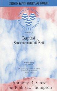 Product: Sbht: Baptist Sacramentalism Image