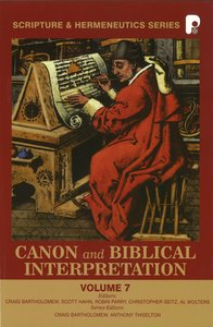 Product: Shs #07: Canon And Biblical Interpretation Image