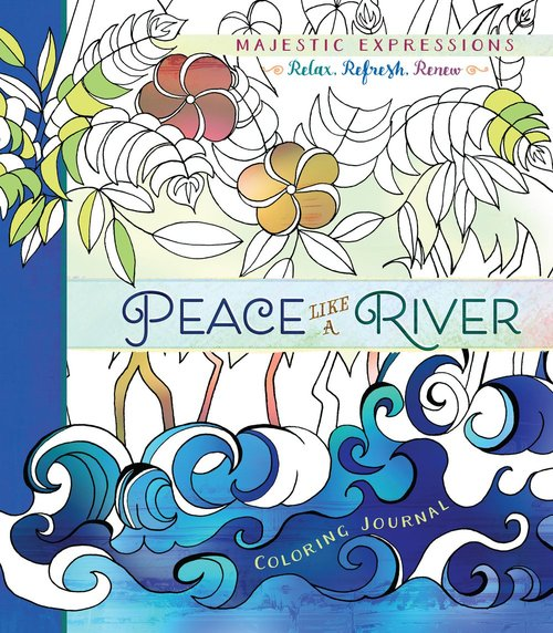Product: Adult Coloring Journal: Peace Like A River Image