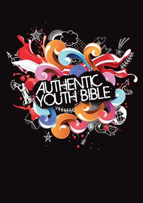 Product: Erv Authentic Youth Bible Black Image
