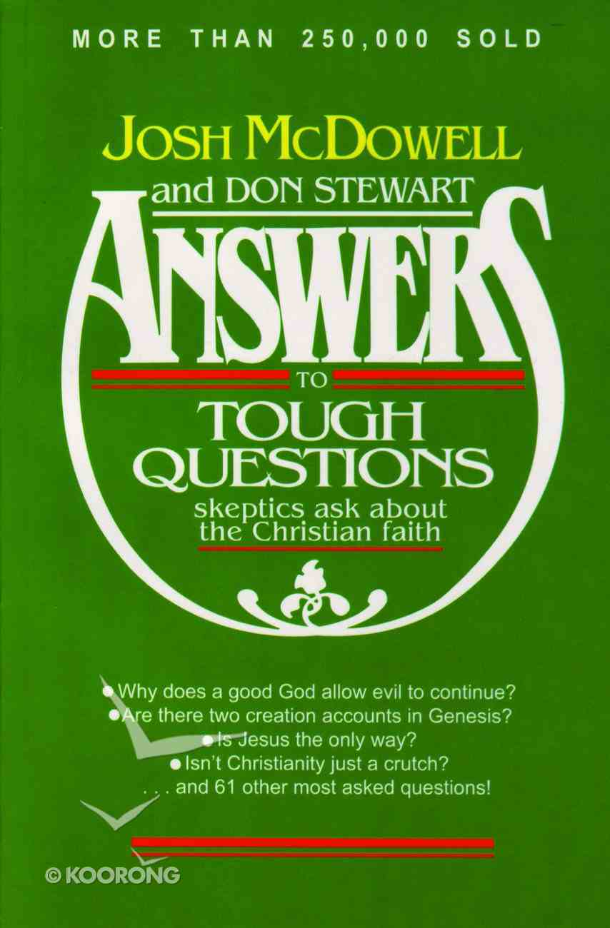 Answers to Tough Questions Paperback