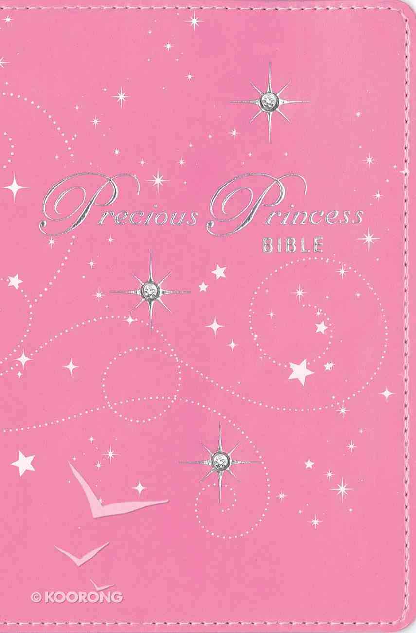 NIRV Precious Princess Bible Pink Sparkle Italian Duo-Tone Imitation Leather
