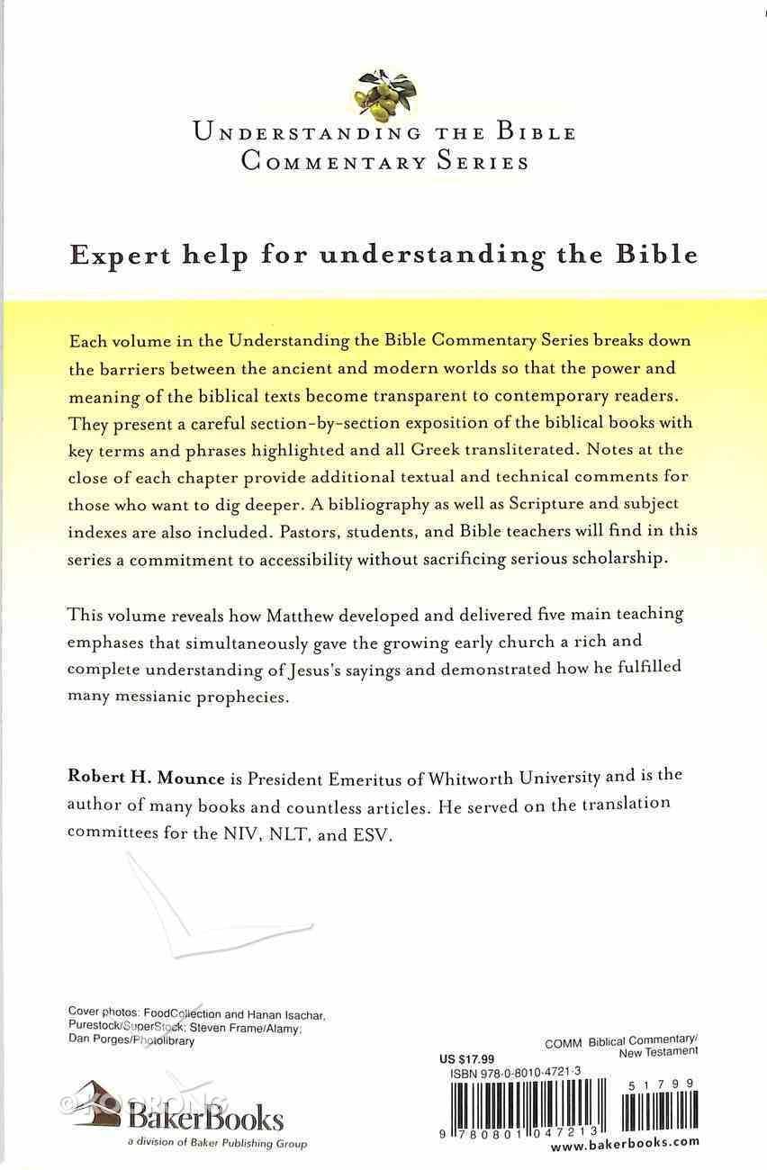 Matthew (Understanding The Bible Commentary Series) Paperback