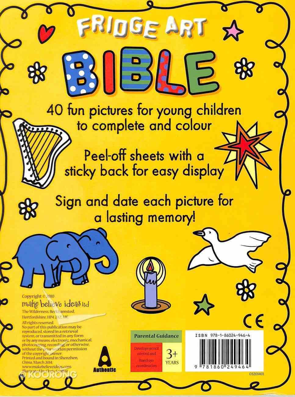 Fridge Art Bible (Peel And Stick) Paperback